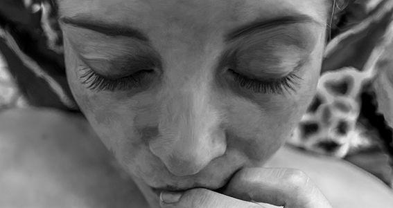 fotografía artística en blanco y negro mujer duda