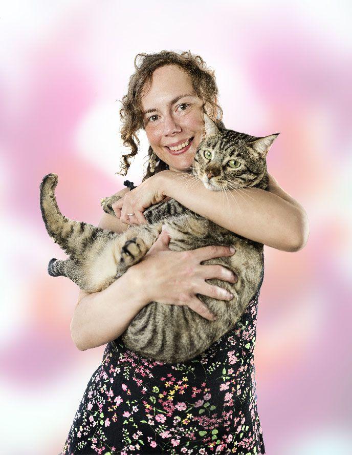 retrato chica gato familia xisco fuster